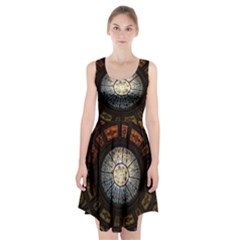 Black And Borwn Stained Glass Dome Roof Racerback Midi Dress