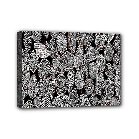 Black And White Art Pattern Historical Mini Canvas 7  x 5