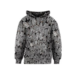 Black And White Art Pattern Historical Kids  Pullover Hoodie