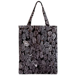 Black And White Art Pattern Historical Zipper Classic Tote Bag