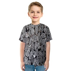 Black And White Art Pattern Historical Kids  Sport Mesh Tee