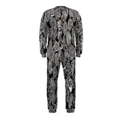 Black And White Art Pattern Historical Onepiece Jumpsuit (kids)