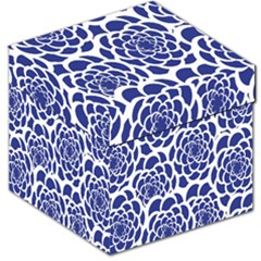 Blue And White Flower Background Storage Stool 12