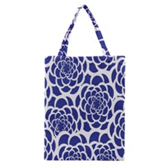 Blue And White Flower Background Classic Tote Bag