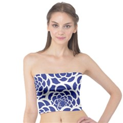 Blue And White Flower Background Tube Top