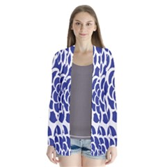 Blue And White Flower Background Cardigans