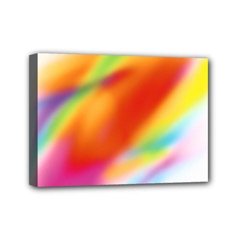 Blur Color Colorful Background Mini Canvas 7  x 5