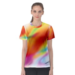 Blur Color Colorful Background Women s Sport Mesh Tee