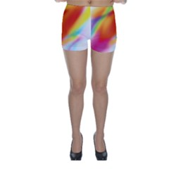 Blur Color Colorful Background Skinny Shorts