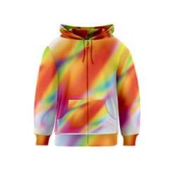 Blur Color Colorful Background Kids  Zipper Hoodie