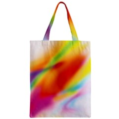 Blur Color Colorful Background Zipper Classic Tote Bag