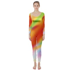 Blur Color Colorful Background Long Sleeve Catsuit