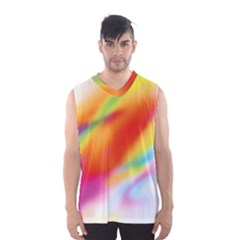 Blur Color Colorful Background Men s Basketball Tank Top