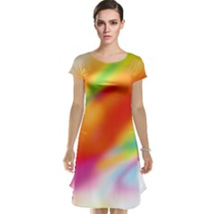 Blur Color Colorful Background Cap Sleeve Nightdress