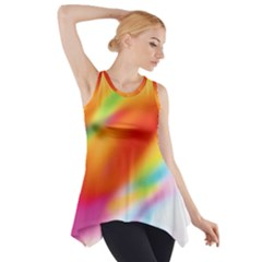 Blur Color Colorful Background Side Drop Tank Tunic