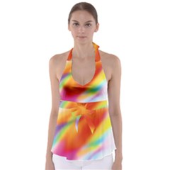Blur Color Colorful Background Babydoll Tankini Top