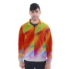 Blur Color Colorful Background Wind Breaker (men)