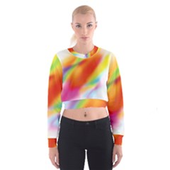 Blur Color Colorful Background Women s Cropped Sweatshirt