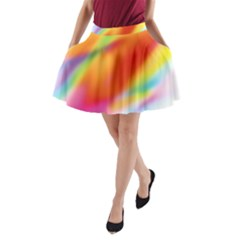 Blur Color Colorful Background A-Line Pocket Skirt