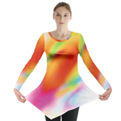Blur Color Colorful Background Long Sleeve Tunic