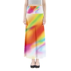 Blur Color Colorful Background Maxi Skirts