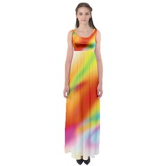 Blur Color Colorful Background Empire Waist Maxi Dress