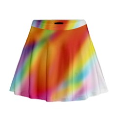 Blur Color Colorful Background Mini Flare Skirt