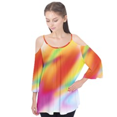 Blur Color Colorful Background Flutter Tees