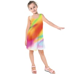Blur Color Colorful Background Kids  Sleeveless Dress