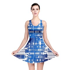 Board Circuits Trace Control Center Reversible Skater Dress