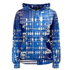 Board Circuits Trace Control Center Women s Pullover Hoodie