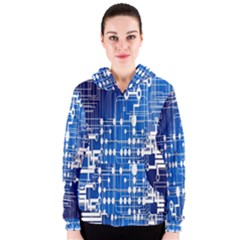 Board Circuits Trace Control Center Women s Zipper Hoodie