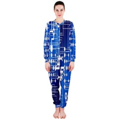 Board Circuits Trace Control Center Onepiece Jumpsuit (ladies)