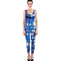 Board Circuits Trace Control Center Onepiece Catsuit