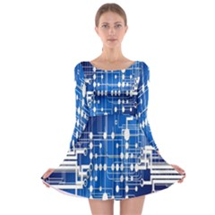 Board Circuits Trace Control Center Long Sleeve Skater Dress