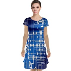 Board Circuits Trace Control Center Cap Sleeve Nightdress