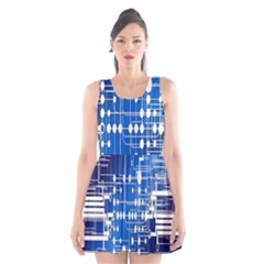 Board Circuits Trace Control Center Scoop Neck Skater Dress