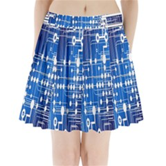 Board Circuits Trace Control Center Pleated Mini Skirt