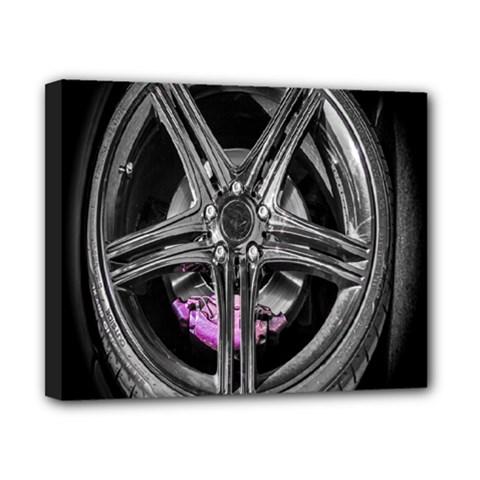 Bord Edge Wheel Tire Black Car Canvas 10  x 8