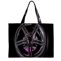 Bord Edge Wheel Tire Black Car Zipper Mini Tote Bag
