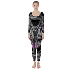 Bord Edge Wheel Tire Black Car Long Sleeve Catsuit