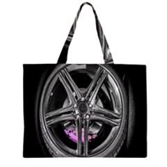 Bord Edge Wheel Tire Black Car Large Tote Bag