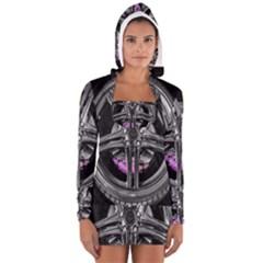 Bord Edge Wheel Tire Black Car Women s Long Sleeve Hooded T-shirt
