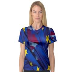 Brexit Referendum Uk Women s V-Neck Sport Mesh Tee