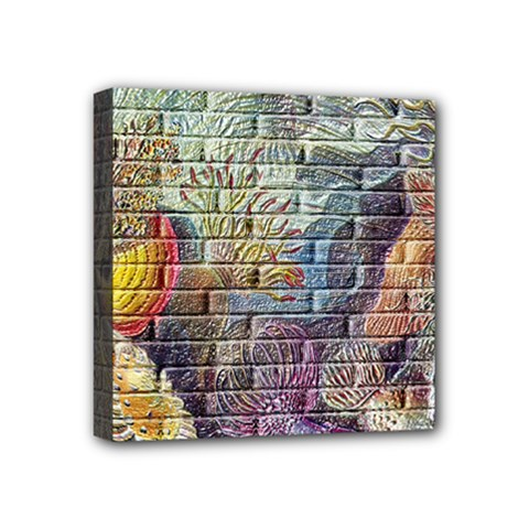 Brick Of Walls With Color Patterns Mini Canvas 4  x 4