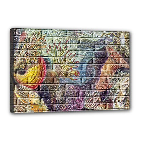 Brick Of Walls With Color Patterns Canvas 18  x 12