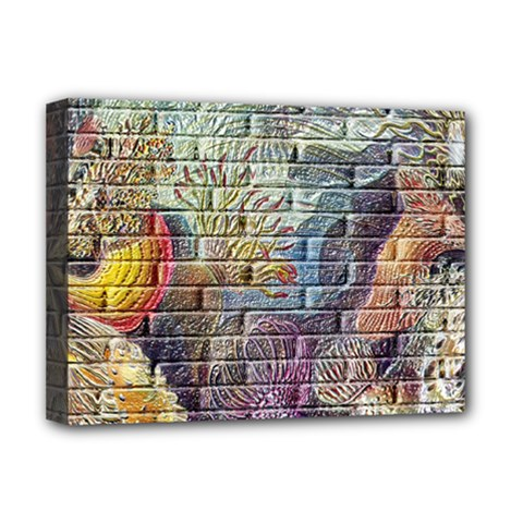 Brick Of Walls With Color Patterns Deluxe Canvas 16  x 12