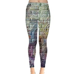 Brick Of Walls With Color Patterns Leggings