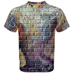 Brick Of Walls With Color Patterns Men s Cotton Tee