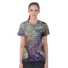 Brick Of Walls With Color Patterns Women s Cotton Tee